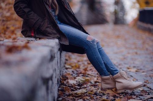 Spodnie wysoki stan - kobiety
