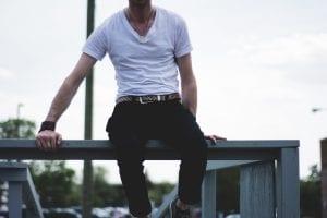 Spodnie skórzane rurki
